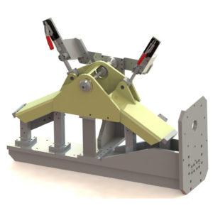 Progetto 3D dima saldatura scivolo betoniera